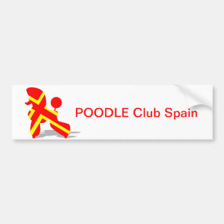 Yellow Red Poodle Bumper Sticker