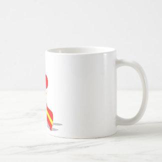Yellow Red Poodle Coffee Mug