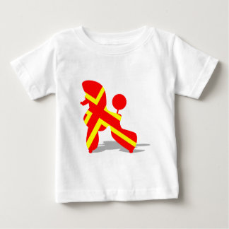Yellow Red Poodle Infant T-shirt