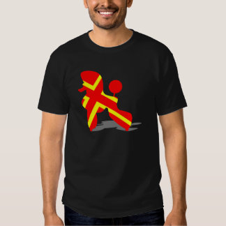 Yellow Red Poodle T-shirt