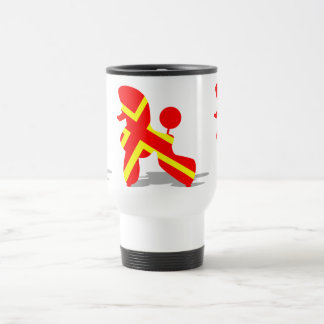 Yellow Red Poodle Travel Mug