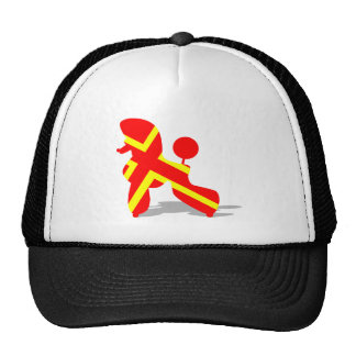 Yellow Red Poodle Trucker Hat