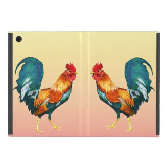 Yellow Red Rooster Bird Powis iPad Mini Case