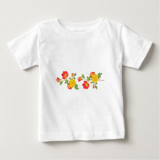 Yellow Red Roses Baby T-Shirt