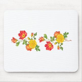 Yellow Red Roses Mouse Pad