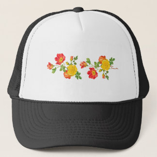 Yellow Red Roses Trucker Hat
