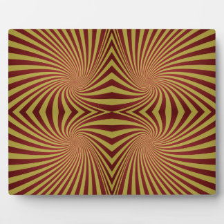 Yellow red spiral pattern photo plaques