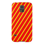 Yellow,red striped phone. cases for galaxy s5