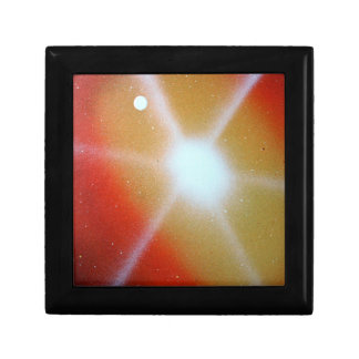 yellow red sun burst spacepainting moon jewelry boxes