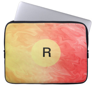 Yellow Red Texture Design Laptop Computer Sleeves