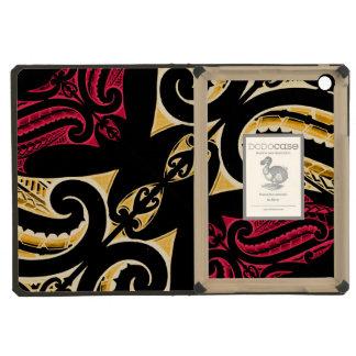 Yellow Red tribal Maori tatau drawing polytat iPad Mini Covers