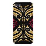Yellow Red tribal Maori tatau drawing polytat iPhone SE/5/5s Case