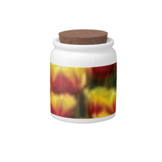 yellow red tulips candy dish