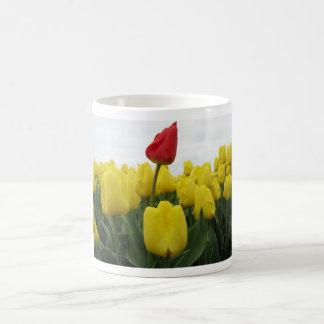 Yellow Red Tulips Coffee Mug