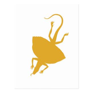 Yellow reptile postcard