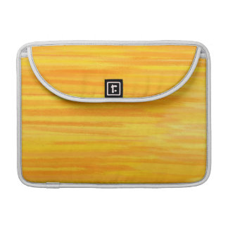 Yellow Retro Abstract Painting MacBook Pro Sleeve
