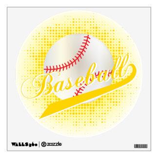 Yellow Retro Baseball Style Wall Sticker