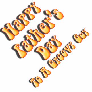 Yellow Retro Father's Day for a Groovy Guy Standing Photo Sculpture