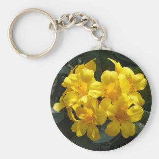 Yellow Rhododendron Keychain