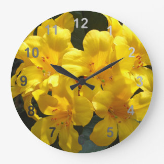 Yellow Rhododendron Wall Clock