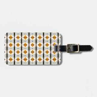 Yellow Rhombus. Geometric Retro Design Bag Tag
