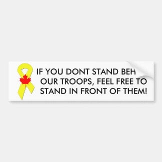 Yellow_Ribbon, 562px-Canada_Maple_Leaf_svg, IF ... Bumper Stickers