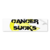 yellow-ribbon, CANCER SUCKS Bumper Sticker