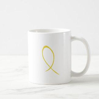 Yellow Ribbon Customizable Mug