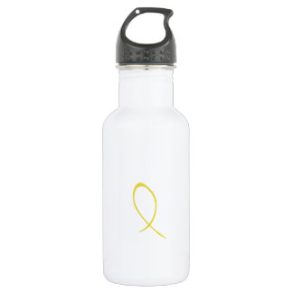 Yellow Ribbon Customizable Stainless Steel Water Bottle