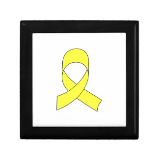 Yellow Ribbon Drawing Keepsake Box