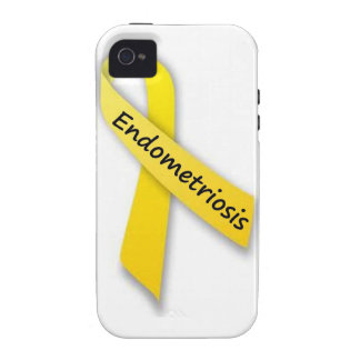 Yellow Ribbon for Endometriosis iPhone 4/4S Cases