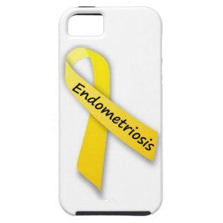 Yellow Ribbon for Endometriosis iPhone 5 Covers