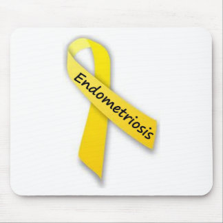 Yellow Ribbon for Endometriosis Mouse Pad