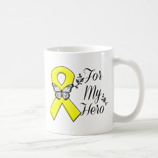 Yellow Ribbon For My Hero Coffee Mug