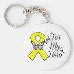 Yellow Ribbon For My Hero Keychain