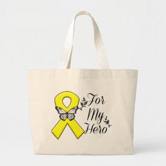 Yellow Ribbon For My Hero Large Tote Bag