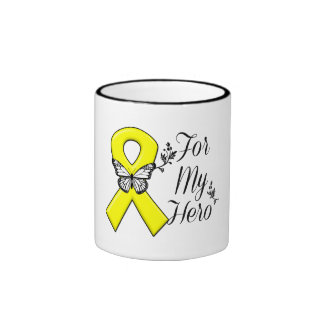 Yellow Ribbon For My Hero Ringer Mug