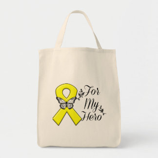 Yellow Ribbon For My Hero Tote Bag