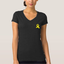 Yellow Ribbon Jersey V-Neck T-Shirt