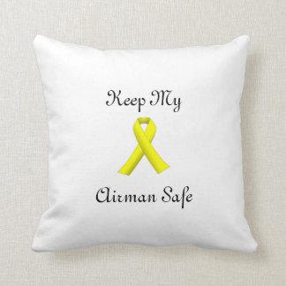 yellow ribbon keep my airman safe pillow