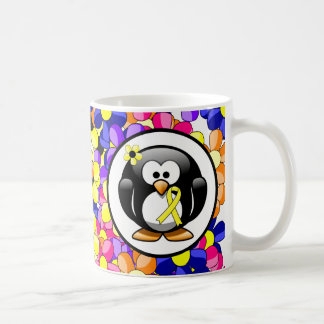 Yellow Ribbon Penguin Coffee Mug