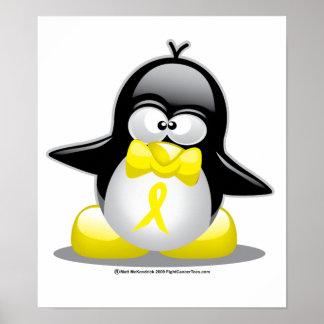 Yellow Ribbon Penguin Poster