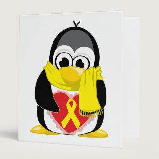 Yellow Ribbon Penguin Scarf Binder