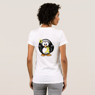 Yellow Ribbon Penguin T-Shirt