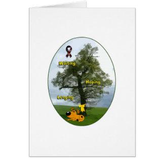 Yellow Ribbon - Pumpkin Waiting, Hoping, Longing Card