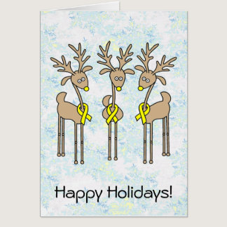 Yellow Ribbon Reindeer Card