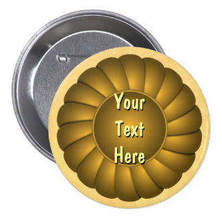 Yellow Ribbon Rosette to Personalize Button