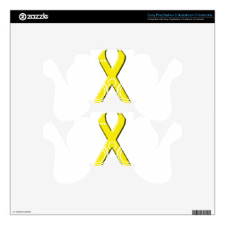 Yellow Ribbon PS3 Controller Decal