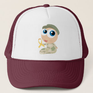 Yellow Ribbon Soldier Military Support Hat