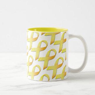 Yellow Ribbon Suicide Awareness Cup Two-Tone Coffee Mug